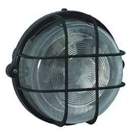 Coloured Round Light IP44 Black
