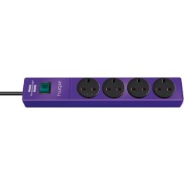 hugo! Extension Socket 4 Way Violet 2m 05VV-F3G1.25 GB 1150613134