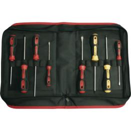 Set of 8 Screwdrivers MEC-PH  Mastertork in Zipper Case, 55517