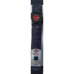5 Way Premium  Alu Line Extension Socket, 3m , BS 13A