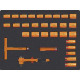 "Set of 31 Socket Wrenches 1/2"" 1000v 12 edges, 79077"