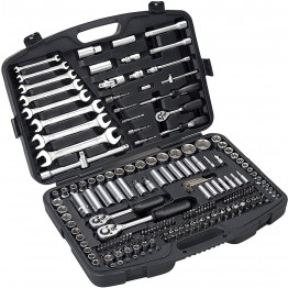 Combined 1/2'', 1/4'' and 3/8 of 219 pieces Socket wrench set HR High Resistance in plastic case