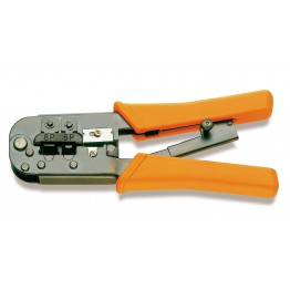 Ratchet crimpling plier for telephone terminals and data transmission, 1601