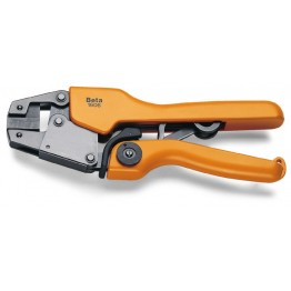 Heavy duty crimping pliers for cylindrical terminals, 1606