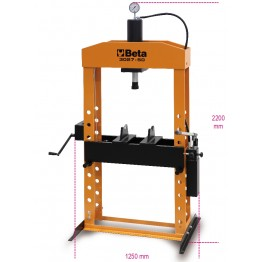 Hydraulic Press with moving piston and hoist 3027 50