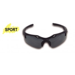 Safety glasses with polycarbonate lenses