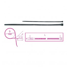 Nylon cable ties, self-locking head  1748/K