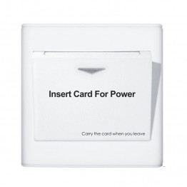 Access Card Operated Switches, 250V 16A Switch - Suits 1 x 16A Circuit (White)