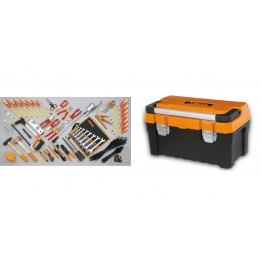 Combined Electrical and Mechanical Tool Box with Assortment of 64 Tools