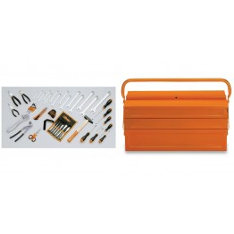 Complete Mechanical Tool box  with Assortment of 45 tools for Universal use