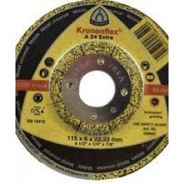 Kronenflex® Grinding discs for Metals A 24 Extra, 115 x 22.23 x 6 mm,  depressed for metal - 1pc