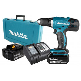 Cordless Drill 18V Li-ion 13mm(1/2), 2 x 3.0 Ah Battery and Charger - DDF453SFE