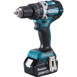 Cordless Combi Hammer Drill 18V,13 mm, DHP484RTJ 2 x Battery 5.0 Ah & Charger