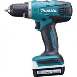 Cordless Driver Drill DF347D 10mm, Keyless, 14.4v, 2x Battery 1.5Ah & Charger, Case