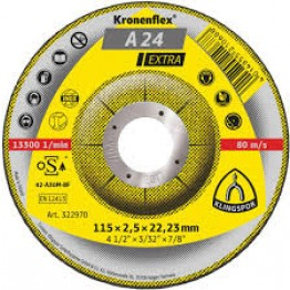 Kronenflex® cutting-off wheels for Metals A 24 Extra, 230 x 22.23 x 3 mm, depressed for metal 1 PC