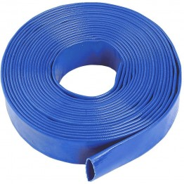 "Water Discharge Layflat Hose Pipe Pump Irrigation Blue  - 51mm (2"") Bore x 100 Metres Long"