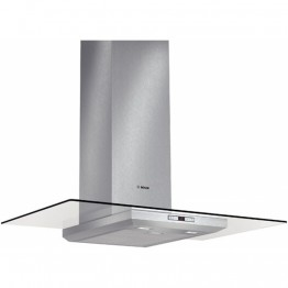 DWA097E50 90 cm, Chimney Extractor Hood | Brushed steel with glass canopy