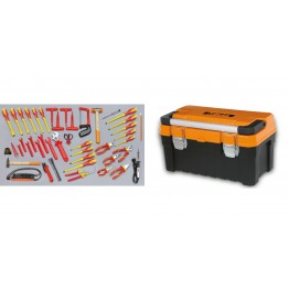 Electrical Tool Box With Assortment of 46 Tools for Electrotechnical Maintenance