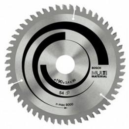 Multi Material Circular Saw Blade 190 X 30 X 54 Teeth