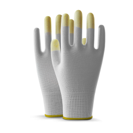 Kasyer Touch Screen Plus Polyester White Glove, Size 10 - 3 Pairs (Packed)