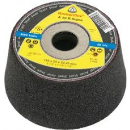 Cup grinding wheels A 30 R Supra Kronenflex® for Steel 110 x 22.23 x 55 mm