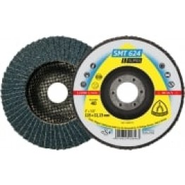 Flap disc SMT 624 Supra, 115 x 22.23, 80 grit, for INOX