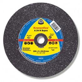 Kronenflex Cutting-off wheels A 24 N Supra, 230 x 22.23 x 3 mm, depressed, for Metal - 341298