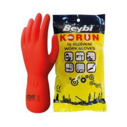 Korun Normal Strong Industrial Latex Glove Size 9 - 1 Pair.