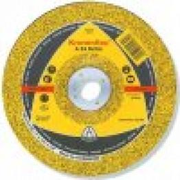 Kronenflex Grinding discs A 24 N Supra, 125 x 22.23 x 6 mm, depressed, for INOX
