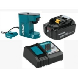Cordless Coffee Maker 18volt LXT Makita DCM500Z  + Charger  + 18v x 5Ah Lithium ion Battery