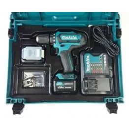Cordless Drill Driver, DF331DSMJ 10.8V 2x4Ah Batteries + Charger in Carry Case