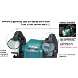 "Bench Grinder 205mm (8""), 550 W 