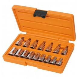 1/2''drive Torx socket Allen Key set, 923FTX with 16 accessories, T20-T50, E10-E24, 009230944