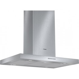 DIB097A50 Brushed Steel Island chimney hood, 90 cm