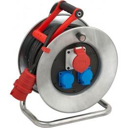 Heavy Duty Cable Reel 25m Steel Body CEE 1 IP 44