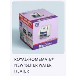 Royal Home Mate Water Heater -15L