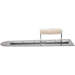 """Steel Trowel 18"""" ( 48cm. ) Wood Handle, Rubi 60996"""