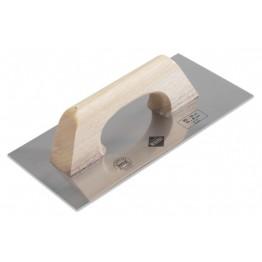 """Steel Trowel 12"""" (30 cm.) Wood Handle, Rubi 65950"""