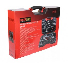 "Set of  218  Sockets 1/4""-3/8""-1/2"""