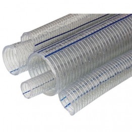 1½'' Transparent Wire Braided Hose,50m