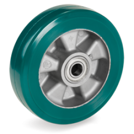 180mm TR-ROLL Polyurethane Wheels, Aluminium centre 622105