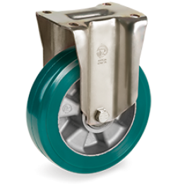 200mm TR-ROLL Polyurethane Wheels, Aluminium centre, fixed bracket type P 628516