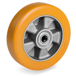 "200mm ""TR"" Polyurethane Wheels high thickness, Aluminium centre 652306"