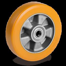 "200mm ""TR"" Polyurethane Wheels high thickness, Aluminium centre 652306"
