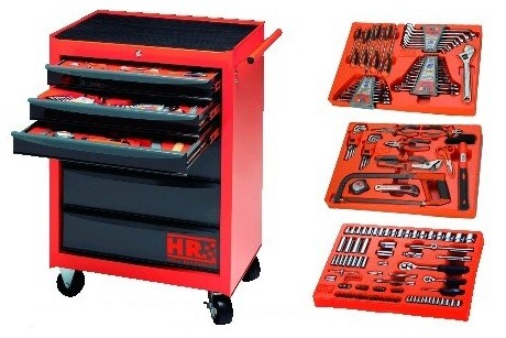 Metallic 6 Drawer Trolley with 162 Tools, 170862