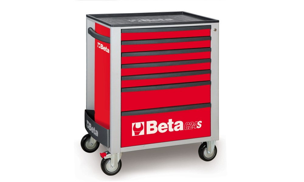 Beta Empty Tools Trolley Mobile Roller Cab With Seven