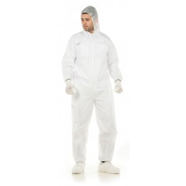 Disposable Coverall Steelgen 1188-BPPE, 100% Polypropylene 40 grs / m2, With Elastic wrists, ankles and waist.