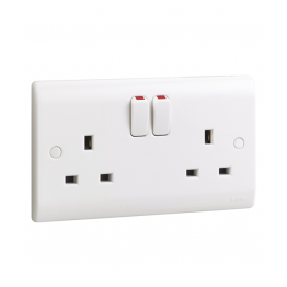 13Amp Double Socket (white)