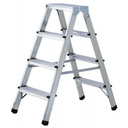 Double-Sided Stepladder Aluminium Professional Quality 3 x 2 Rungs