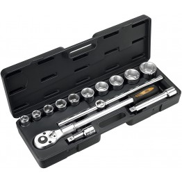 3/4'' socket wrench set in plastic case with 14 piece HR High Resistance Alyco-HR-192582